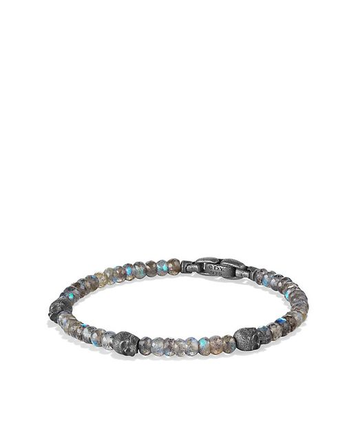 David Yurman | Metallic Spritual Beads Skull Station Bracelet In Labradorite for Men | Lyst