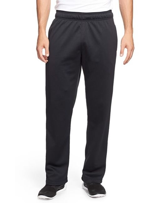 Under Armour | Black Loose Fit Moisture Wicking Fleece Pants for Men | Lyst