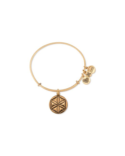ALEX AND ANI   Metallic Aphrodite's Flower Expandable Wire Bangle   Lyst