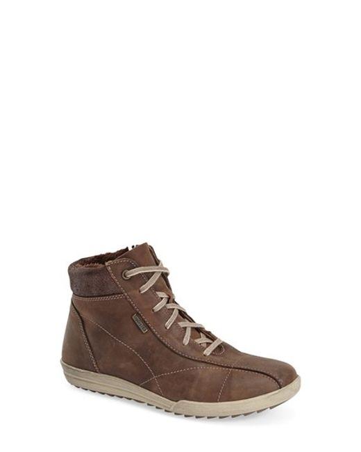 Josef Seibel | Brown 'dany 41' Waterproof High Top Sneaker | Lyst