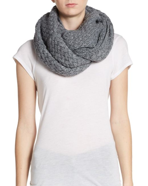 Portolano | Gray Knit Infinity Scarf | Lyst
