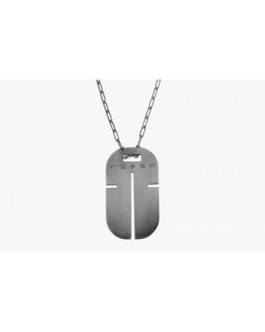 Tateossian | Metallic Gunmetal Iconic Cross Id Pendant for Men | Lyst
