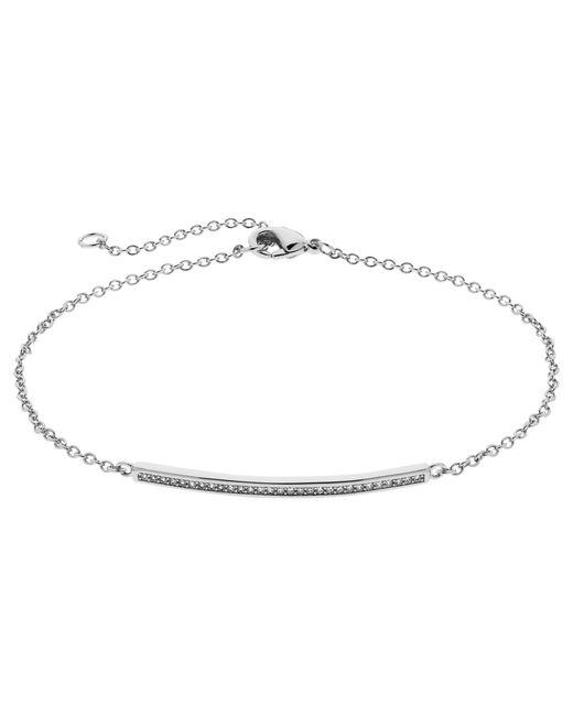 Melissa Odabash | Metallic Crystal Bar Bracelet | Lyst