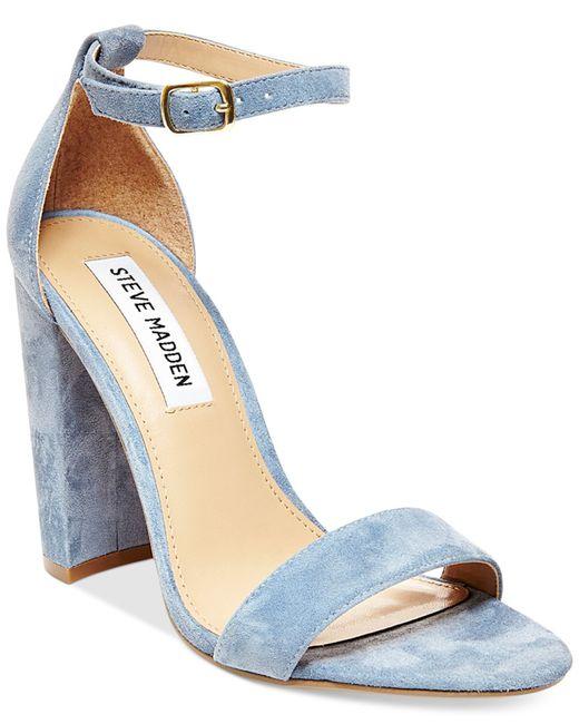 Steve Madden Women S Carrson Ankle Strap Dress Sandals In