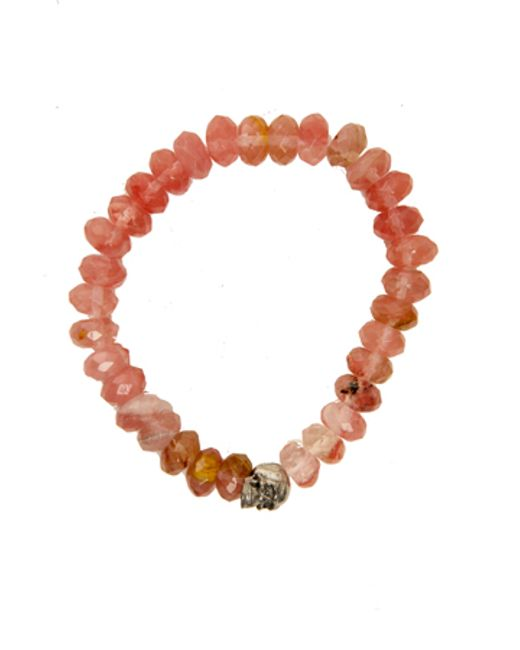 Duchess Of Malfi | Orange Peach Tourmaline Faceted Stone Bracelet | Lyst