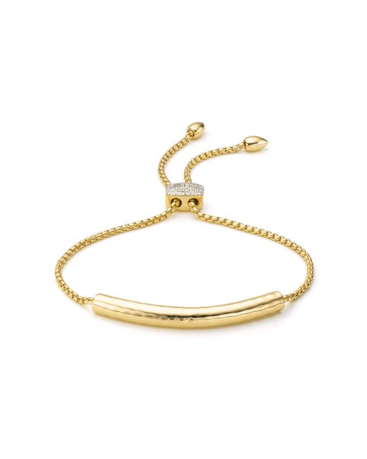 Monica Vinader | Metallic Esencia Diamond Toggle Bracelet | Lyst