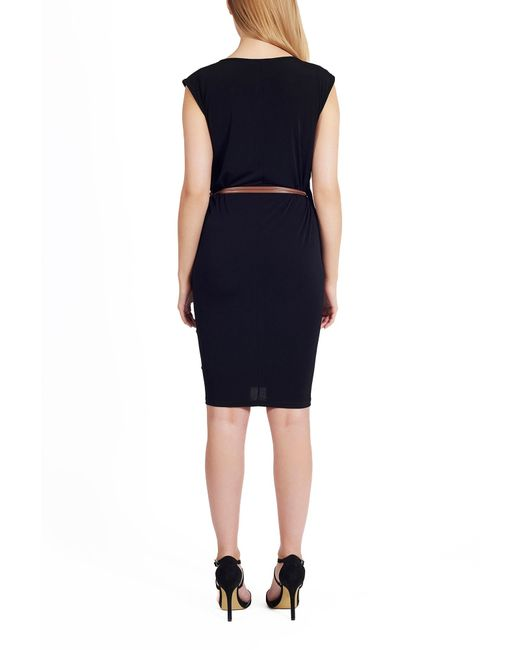 lakeland jersey belt dress in black lyst
