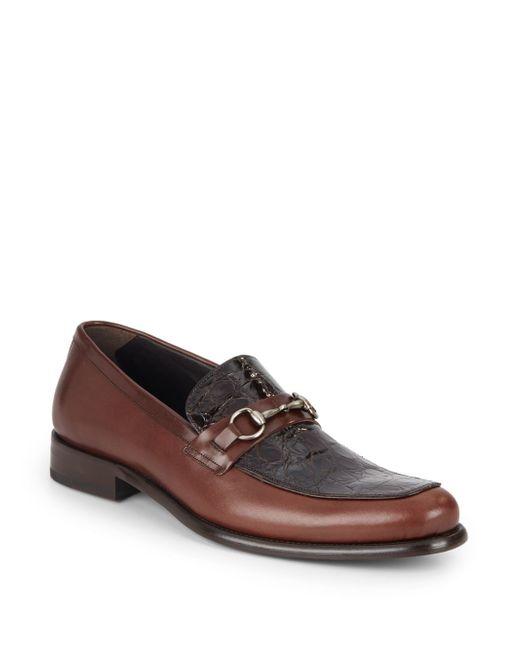 Mezlan | Brown Color-blocked Leather Loafers for Men | Lyst