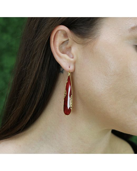 Yossi Harari | Metallic Ruby Slice Lace Earrings | Lyst