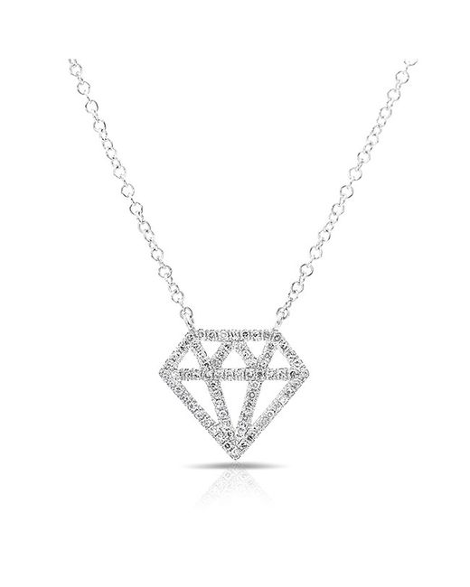 Anne Sisteron - Metallic 14kt White Gold Bling Diamond Necklace - Lyst