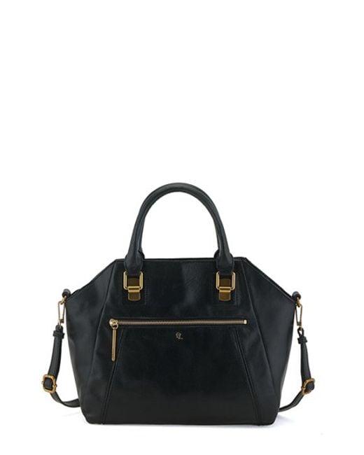 Elliott Lucca | Black Faro Leather City Satchel Bag | Lyst