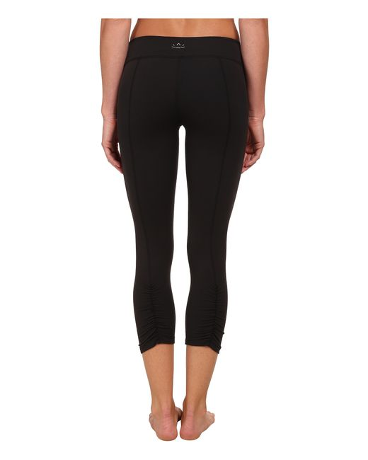 Beyond Yoga | Black Back Gathered Leggings | Lyst