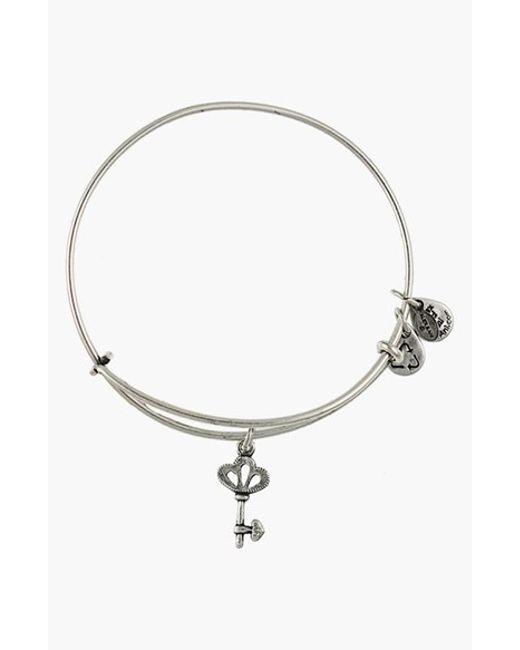 ALEX AND ANI | Metallic 'skeleton Key' Expandable Wire Bangle | Lyst