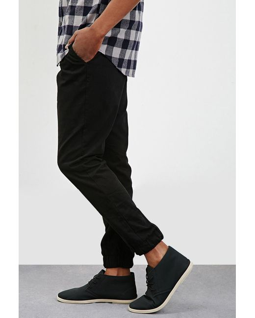 Forever 21 | Black Drawstring Cotton Joggers for Men | Lyst