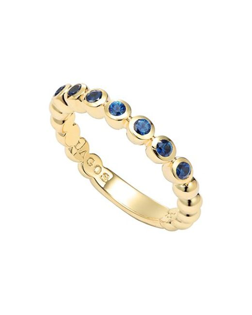Lagos | Metallic Covet Stone Caviar Stack Ring | Lyst