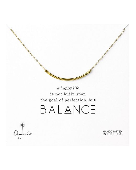 Dogeared | Metallic Balance Delicate Curved Tube Necklace | Lyst