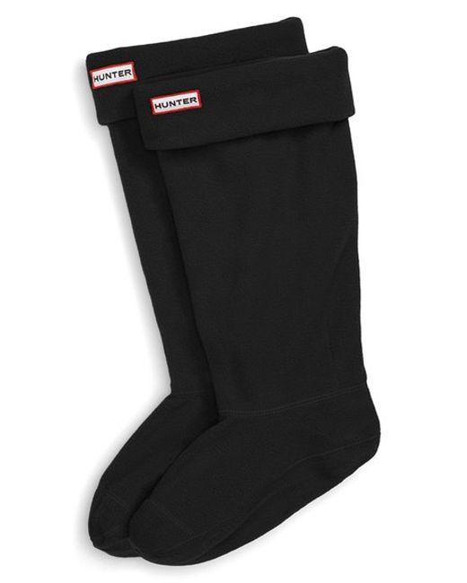 Hunter | Black Original Tall Fleece Welly Boot Socks | Lyst