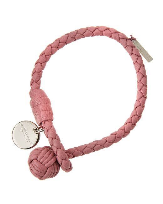 Bottega Veneta | Pink Leather Bracelet | Lyst