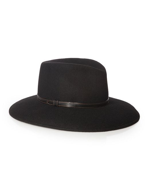 Eric Javits | Black Leather-accented Wool Panama Hat | Lyst