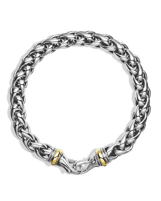 David Yurman | Metallic Large Wheat Chain Bracelet With Gold for Men | Lyst