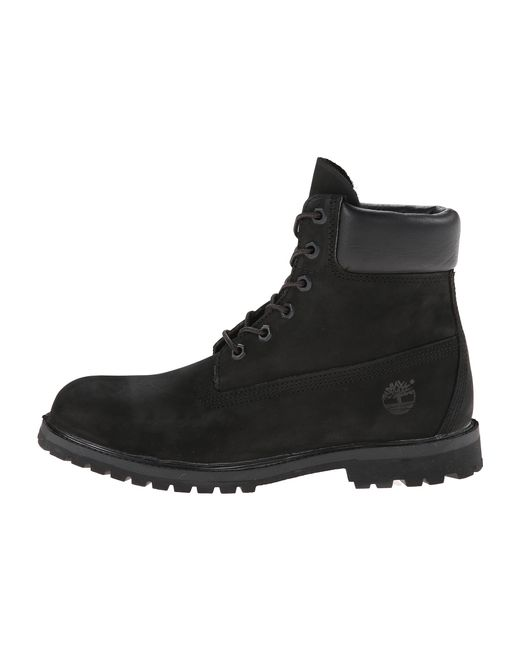 timberland 6 inch premium leather boots in black black