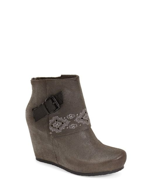 Otbt | Brown Robertson Cuffed Wedge Boots | Lyst