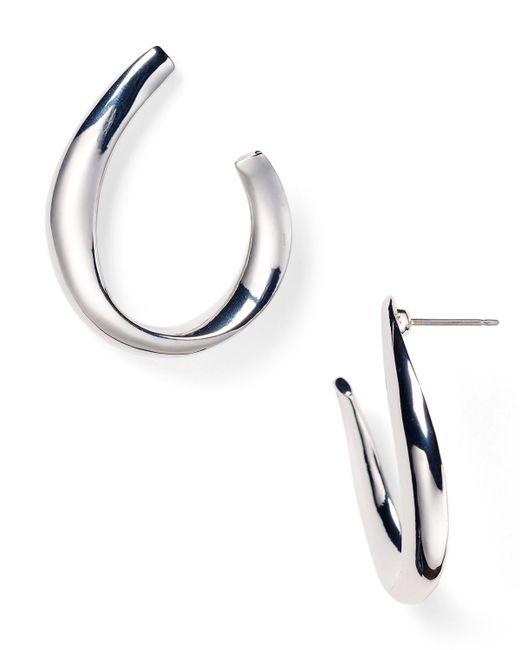 Pink Pony | Metallic Lauren Sculptural Hoop Earrings | Lyst