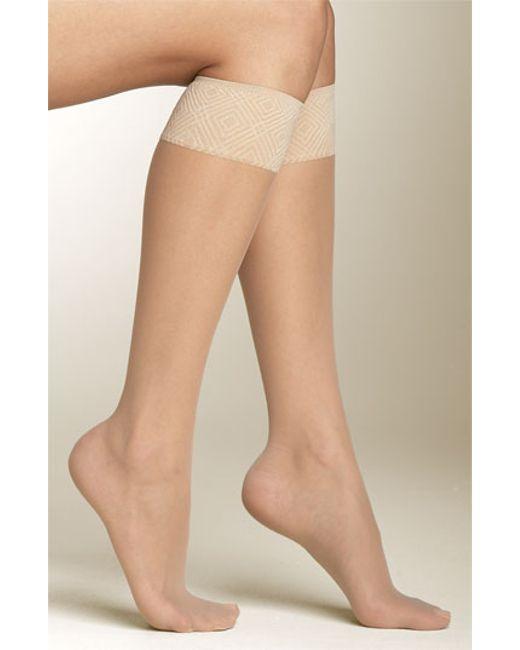 Spanx | Brown Spanx Sheer Knee Highs | Lyst