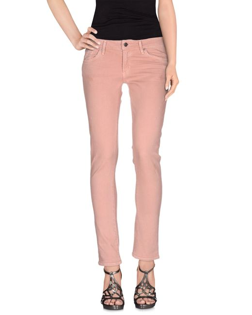 Citizens of Humanity | Pink Denim Pants | Lyst