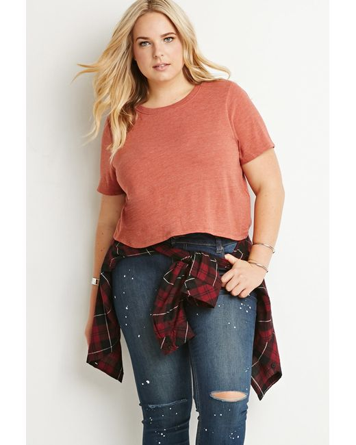 Forever 21 | Pink Plus Size Classic Boxy Tee | Lyst