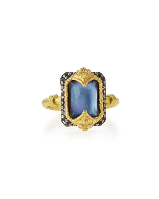 Armenta   Metallic Old World Dulcinea Triplet Crivelli Diamond Ring   Lyst