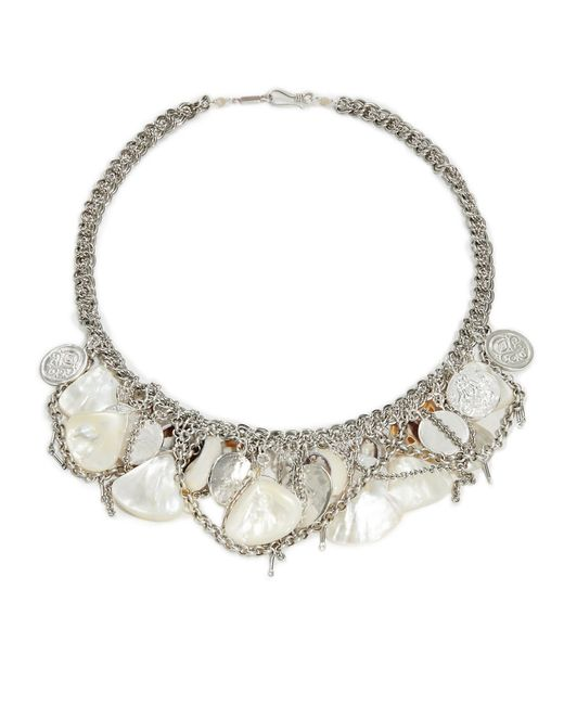 Chan Luu | Metallic 36' White Jade Necklace With Tassle | Lyst