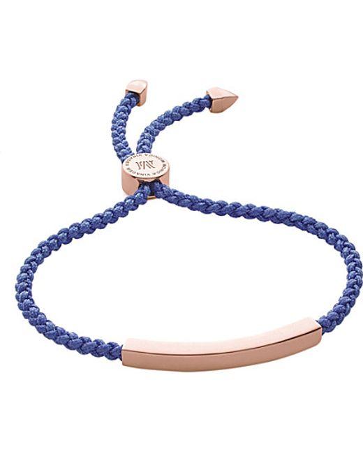 Monica Vinader | Pink Linear Friendship Bracelet | Lyst