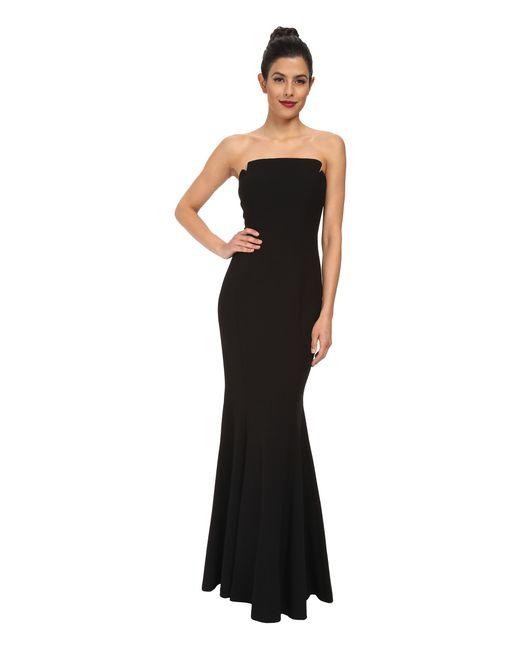 Jill Jill Stuart Strapless Mermaid Gown In Black