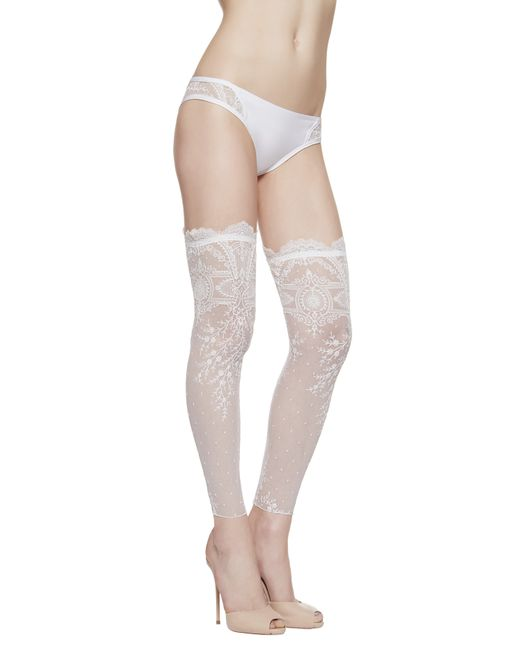 La Perla | White Footless Over-the-knee Stockings | Lyst