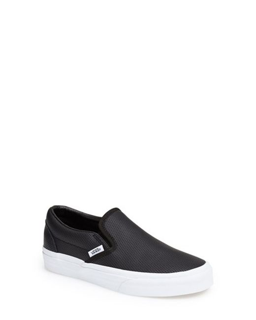 Vans | Black 'Classic' Perforated Slip-On Sneaker  | Lyst