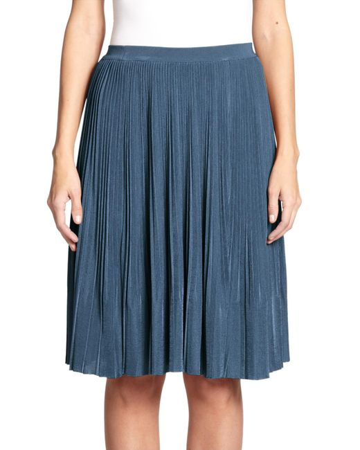 Nina Ricci | Blue Pleated Midi Skirt | Lyst