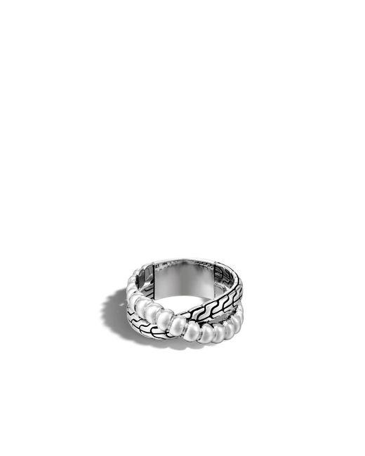 John Hardy   Metallic Classic Chain Overlap Ring   Lyst