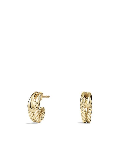David Yurman | Metallic Labyrinth Earrings In 18k Gold | Lyst