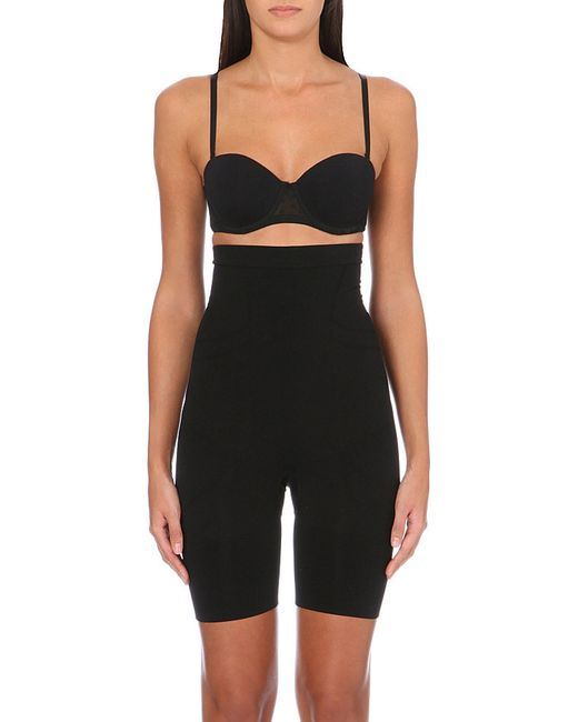 Spanx | Black Slim Cognito Shaping Mid-thigh Bodysuit | Lyst