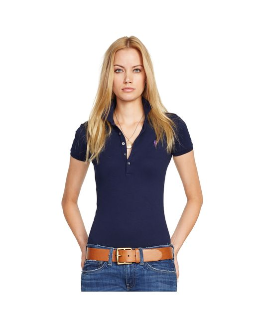 Polo Ralph Lauren | Blue Skinny Fit Stretch Mesh Polo | Lyst