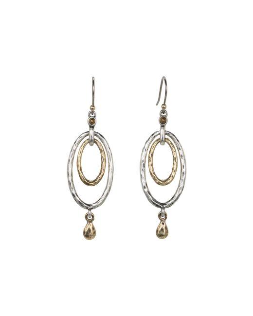 Lucky Brand | Metallic Mary Jane Oval Orbital Earrings | Lyst