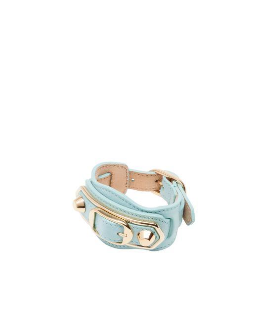 Balenciaga | Blue Classic Metallic Edge Bracelet | Lyst