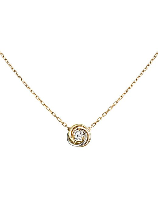 Cartier | Metallic Trinity 18ct Gold And Diamond Necklace | Lyst