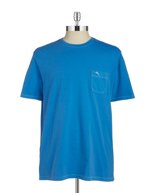 Tommy Bahama Cotton Pocket Tee In Blue For Men Beach Bum