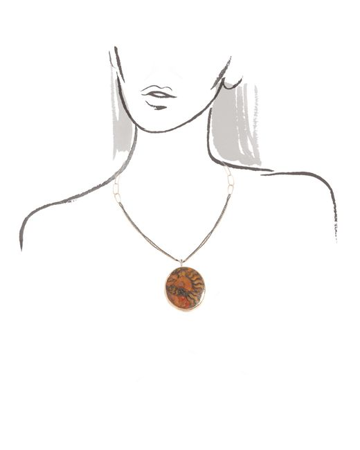 Melissa Joy Manning | Orange Ammonite Fossil Necklace | Lyst