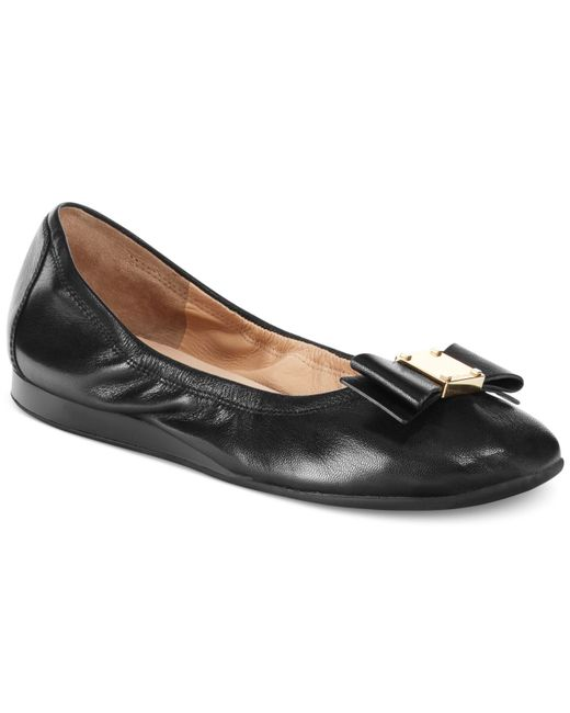 Cole Haan | Black Tali Bow Ballet Flats | Lyst