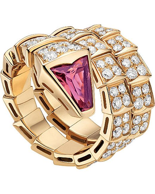 BVLGARI | Serpenti Double-coil 18kt Pink-gold | Lyst