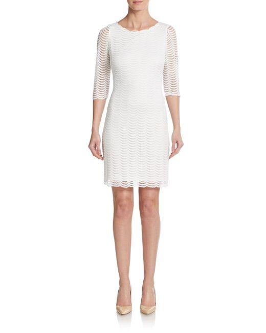 Ivanka Trump | White Lace Sheath Dress | Lyst