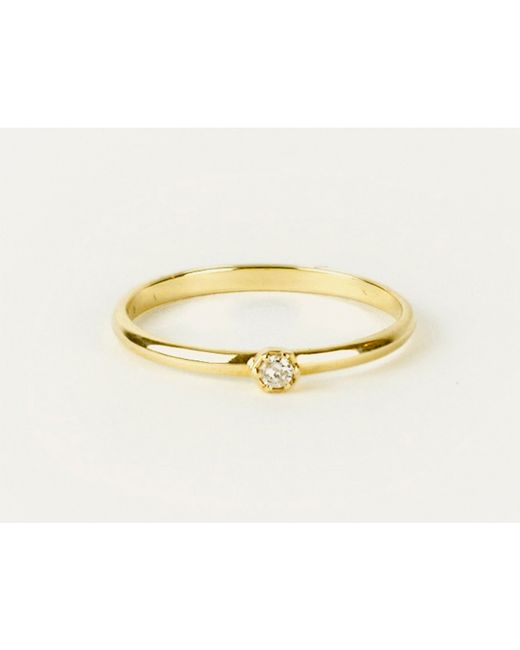 Zoe & Morgan | Metallic Hexagon Diamond Ring | Lyst